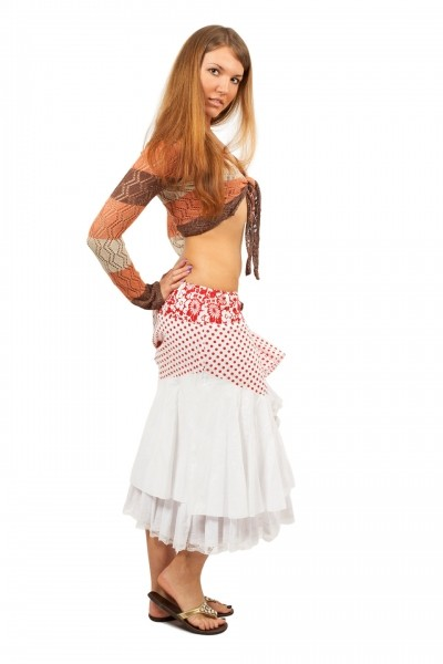 Пышная многослойная юбка