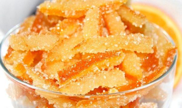 Готовые цукаты из апельсиновых корок
