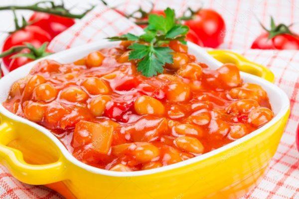 Фасоль с овощами без уксуса
