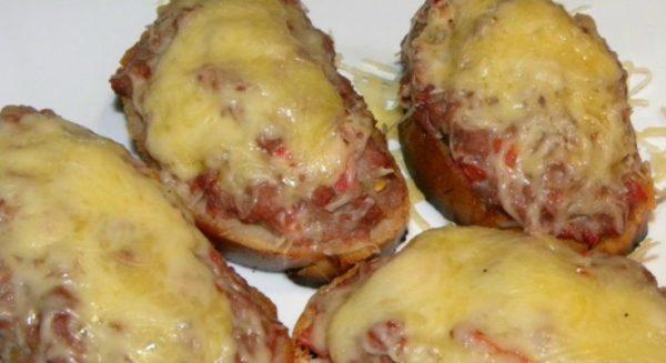 бутерброд с мясным фаршем