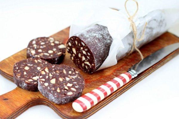 рецепт приготовления шоколадной колбасы