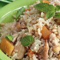 Приготовление риса с хурмой
